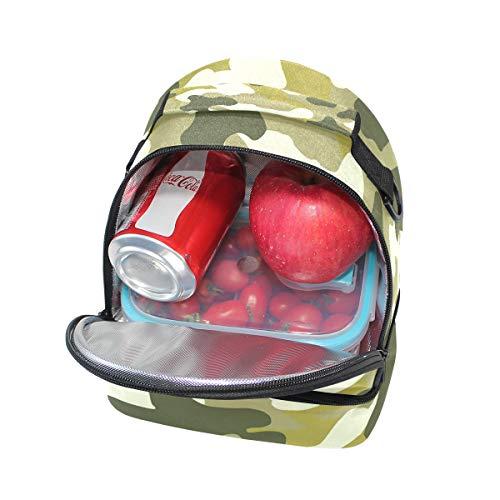 Cooler l'école Sac pour bandoulière réglable camouflage Tote lunch à Motif Alinlo avec isotherme Boîte Pincnic à 7qZTX0c7w