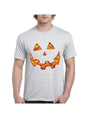 Halloween Costume Pumpkin Face Men's Short Sleeve T-Shirt (SSG) Sport Grey -