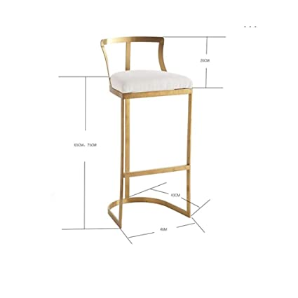 Wondrous Amazon Com Fflsdr Bar Stool High Stool Backrest High Gmtry Best Dining Table And Chair Ideas Images Gmtryco