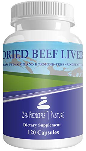 2 Pack (240 Capsules) Ultra-Pure Desiccated Beef Liver, Grass-Fed, Pasture-Raised Cows. No Hormones or GMO. Natural Energy and Workout Boost from Iron, Amino Acids, Protein and Vitamins. 240 Capsules