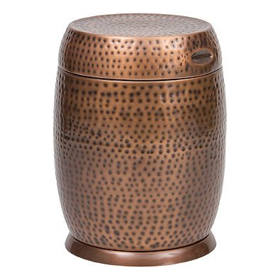 dras Drum Table in Copper (Bombay Side Table)