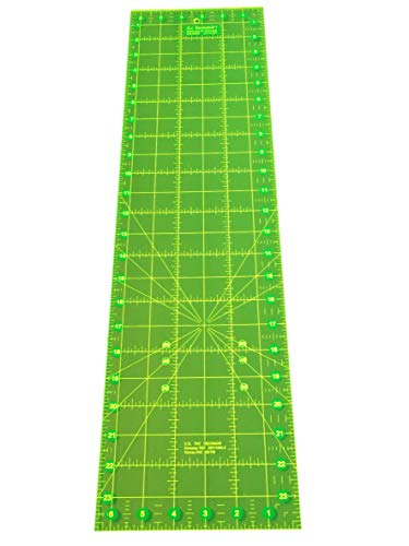 (Non-Slip Quilting Ruler Fluorescent Neon Quilters Ruler - 6.5
