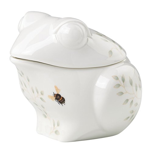 Lenox Butterfly Meadow Figural Frog Sugar, -