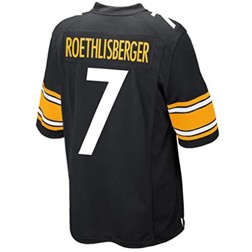 (Ben_Roethlisberger_Black #7 Fans Jersey Sportswears Football Game Jerseys)