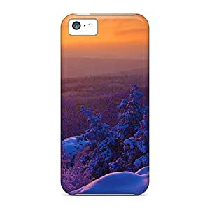 Saraumes Snap On Hard Case Cover Winter Morning Sun Rise Protector For Iphone 5c