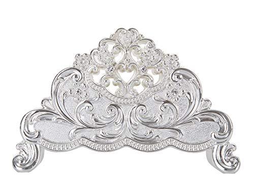 Nerien Decorative Metal Napkin Holder Vintage Floral Paper Napkin Storage Silver
