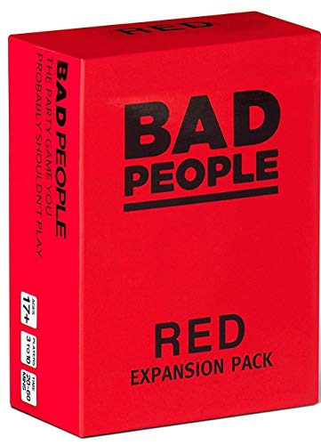 BAD PEOPLE - RED Expansion Pack (100 Question Cards) - The Party Game You Probably Shouldnt Play