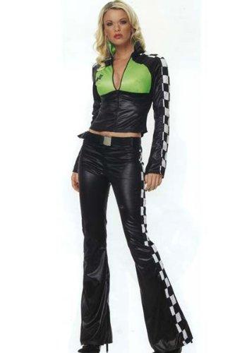 [Leg Avenue Women's Race Car Driver Costume, Multi, X-Small] (Adult Race Car Driver Costumes)