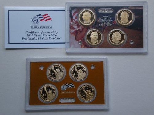 US Mint 2007 Proof Presidential Dollar Set in Original US...