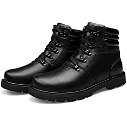 YINHAN® Men's Winter Warm Casual Leather Lace-up Chukka Martin Boots