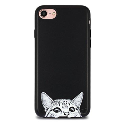 iPhone 7 Case for Girls/iPhone 8 Case, GOLINK Cute IMD Printing Slim-Fit Anti-Scratch Shock Proof Anti-Finger Print Flexible TPU Gel Case for iPhone 7/iPhone 8 - Cat