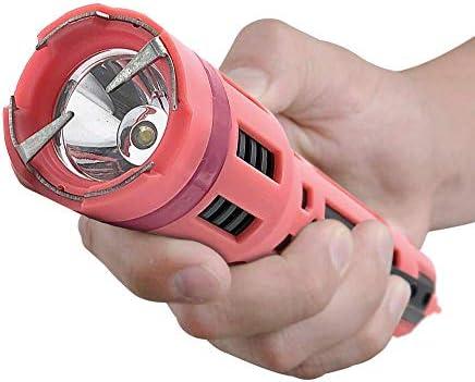 Monster EconoForce Stun Gun Flashlight Maximum Voltage 3 Function Rechargeable Flashlight Stun Gun Combo with Holster, Pink