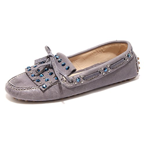 GRIGIO shoes SHOE women 86367 donna scarpa mocassino CAR AVIATOR BLU loafer LUX Hqqvf8x