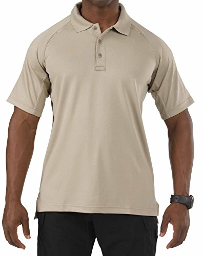 5.11 Performance Polo Short Sleeve Shirt,Silver Tan,Large