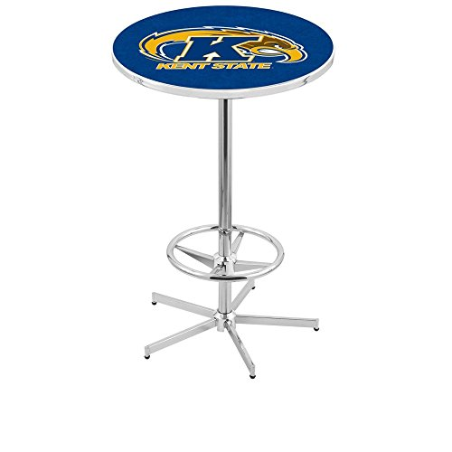 "Holland Bar Stool L216C Kent State University Officially Licensed Pub Table, 28"" x 42"", Chrome"