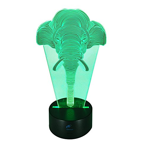 Lightahead Illusion changing Decoration Elephant