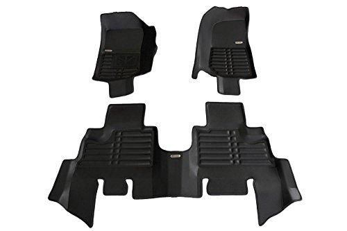 TuxMat Custom Car Floor Mats for Jeep Wrangler JK 4Dr 2007-2018 Models- Laser Measured, Largest Coverage, Waterproof, All Weather.The BestJeep Wrangler JK 4Dr Accessory. (Full Set - Black) 4dr Laser