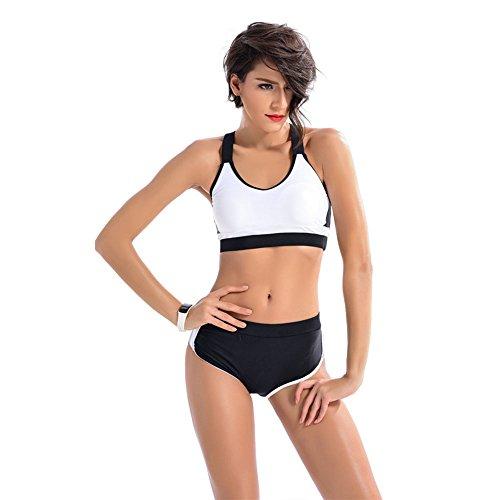 FeliciaJuan Swimsuit Women's Two Piece Swimsuit Surfing Bikini Set Sports Swimwear Push Up Padded Beachwear for Women (Color : White, Size : S) (Women ' S 2 Piece Bademode)