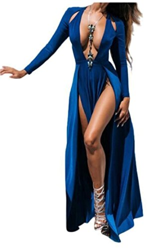 1 Jaycargogo Split Swing Shoulder Sexy XXL Cold Womens Dresses qRwO1