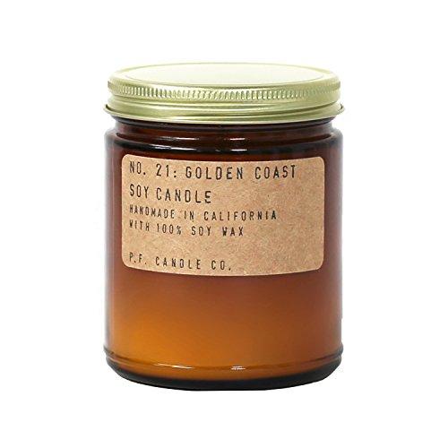 P.F. Candle Co. - No. 21: Golden Coast Soy Candle (7.2 oz) (Candle Jar Santa)