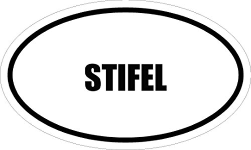6  Printed Stifel Name Oval Euro Style Magnet For Any Metal Surface