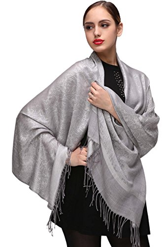 Silver Pashminas Shawls and Wraps for Weddings or Evening - Shawl Wedding Gown Dress