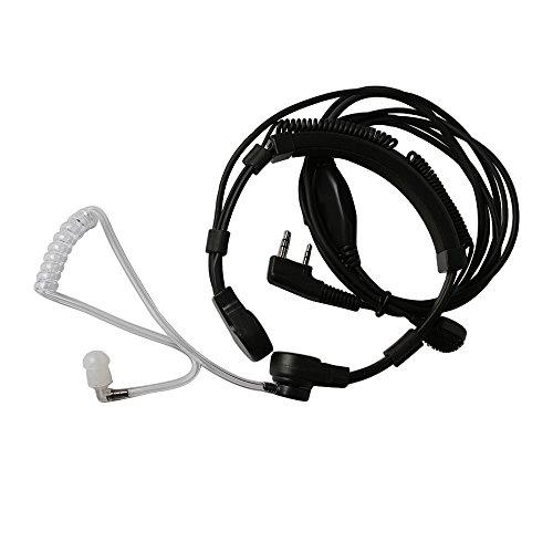 - Xunbin 1 X Flexible Throat Mic Microphone Covert Acoustic Tube Earpiece Headset With Finger PTT for Kenwood Pro-Talk XLS TK Two Way Radio Walkie Talkie 2pin