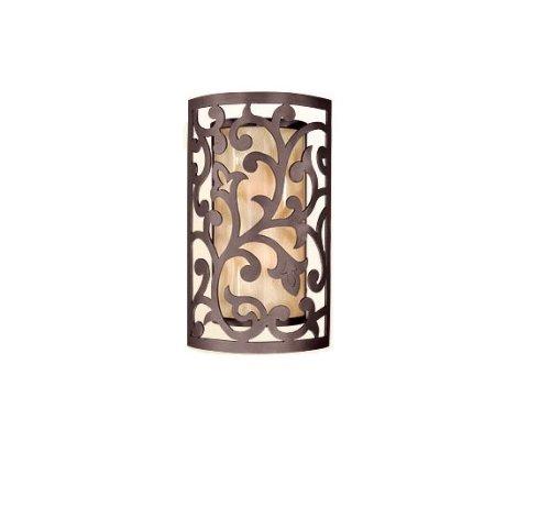 Lighting Corbett Bronze (Corbett Lighting 85-22 Philippe Tahitian Bronze Exterior Two Light Wall Lantern)