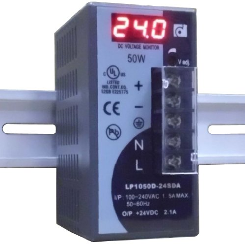 REIGNPOWER LP1050D-24SDA 50W 24VDC 2A Din Rail Power Supply Voltage Monitor Display