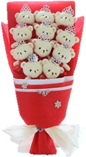 【Shikyou】Cute Bear Bouquet Red Wedding