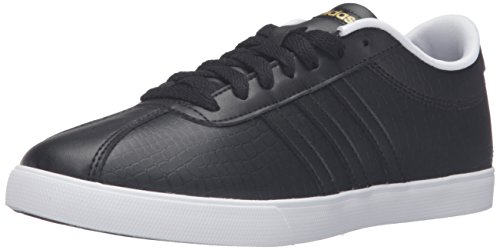 Adidas Performance Women's Courtset W Fashion Sneaker, Black/Black/Matte Gold, 9 M US