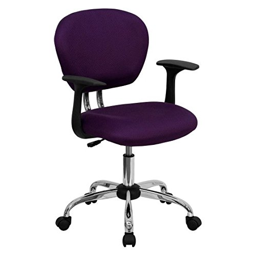 Flash Furniture Mid-Back Mesh Swivel Task Chair with Chrome Base, Purple + Cleaning Pads by Flash Furniture*