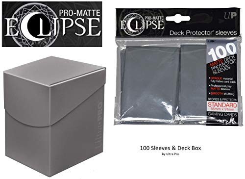 Smoke Grey Deck Protector & Deck Box Combo (100 Count) for MTG Pro-Matte Eclipse by Ultra Pro