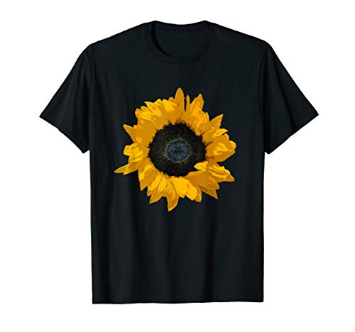 Bright Yellow Sunflower Art Print / Flower Power with Style T-Shirt ()