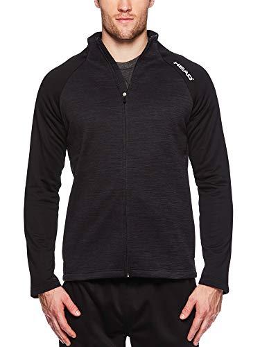 - HEAD Men's Full Zip Up Activewear Jacket - Long Sleeve Running & Workout Outerwear - Lightning Black Heather, Large