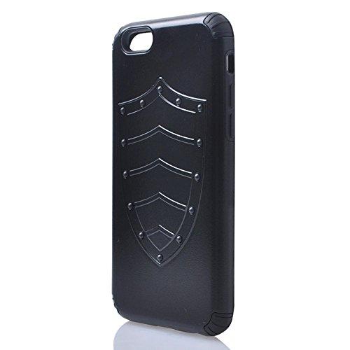 Phone Taschen & Schalen Schild Serie PC + Silikon Kombinationsetui für iPhone 6 & 6S ( Color : Black )