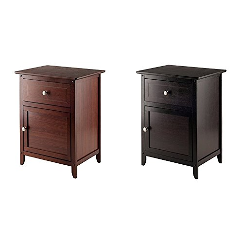 Winsome Wood Night Stand/ Accent Table with Drawer and Cabin