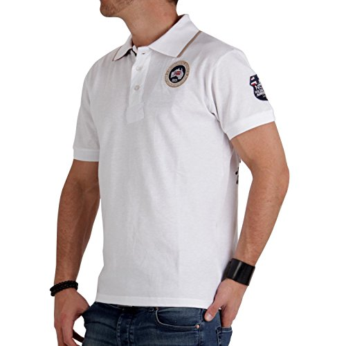 GEOGRAPHICAL NORWAY Herren Polo Shirt Kelvin White Größe L