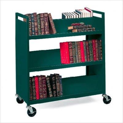 Bretford V336-gm Book Cart - 6 Shelf - 4 Casters - 4 Caster Size - Steel - 37 Width X 18 Depth X ()