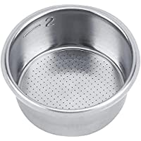 MIBRU Coffee 51mm Filter Espresso Basket 51mm Stainless Steel Double Cup Powder Bowl Reusable Replacement For…