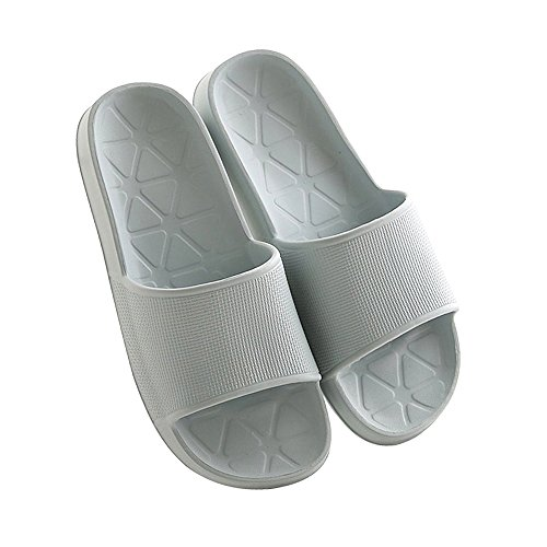 WILLIAM&KATE Spring Summer Unisex Household Slipper Casual Anti-Slip Bathroom Slippers Soft Lightweight Sandal Indoor&Outdoor Couple Slippers Blue-gray K4qaau