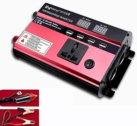 DJNBQ Power Inverter 600W Pantalla Digital DC 12V a 220V AC 240V ...