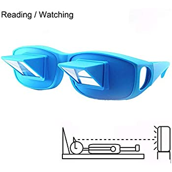 2dd162b5fd5f Prism Glasses Horizontal Glasses Lazy Spectacles Lie Down in Bed for  Reading Watching TV Health Vision Care