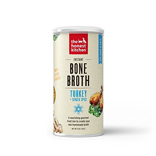 Honest Kitchen Turkey Bone Broth with Ginger For Dogs & Cats  5 oz