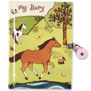 Horse Friends Diary by Galison (Locking Diary) - Horse Friends Diary