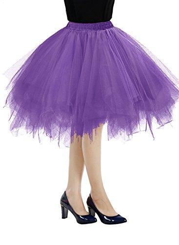 Bbonlinedress Faldas Tul Mujer Enaguas Cortas Tutus Ballet Mini Para Vestidos Purple