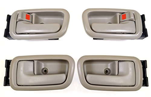 PT Auto Warehouse TO-2950G-QS - Inside Interior Inner Door Handle/Trim, Gray (Charcoal) - Extended Cabs, Front Left/Right, Rear Left/Right