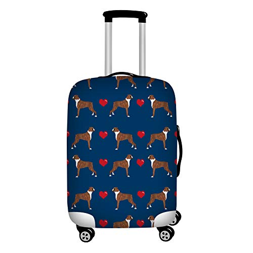 Upetstory Elastic Travel Luggage Cover Durable Anti-Scratch Suitcase Protector Boxer Lover Pattern for 18-21 Inch…