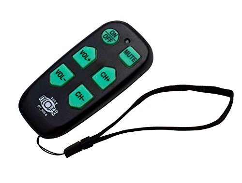 black big button remote elderly