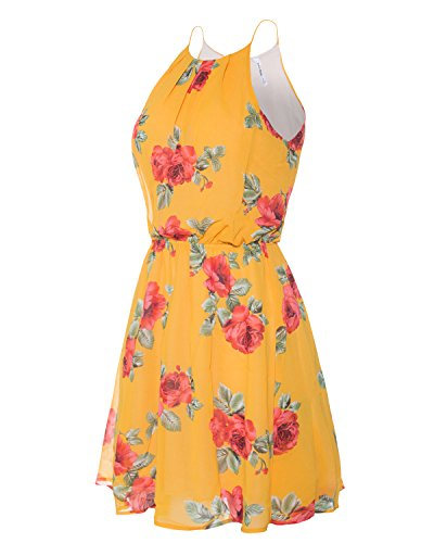 Layered S Pleated Red Dress Sleeveless Chiffon Women's Double Mustard Mini Instar 3X Mode D39714flo XwzIqnqB
